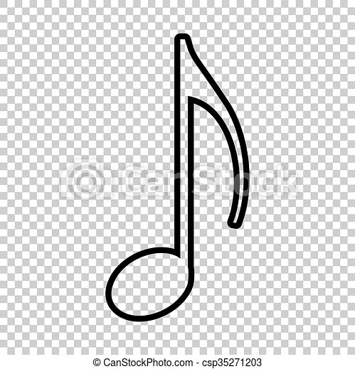 Music note sign  Line icon