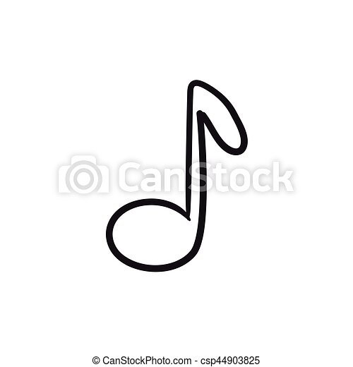 Music Note Line Drawing