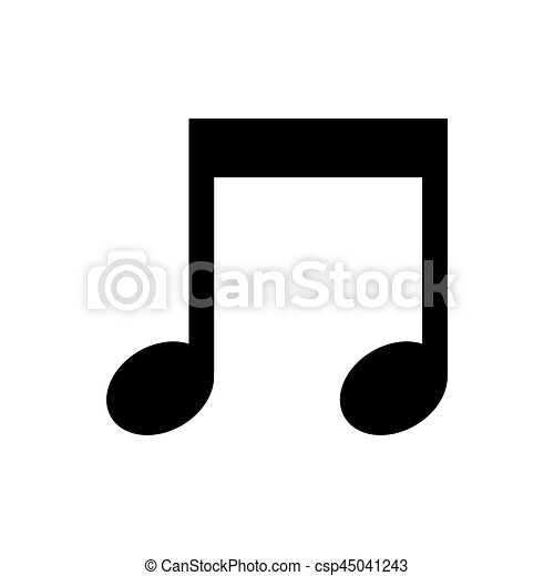 Music Note Symbol Icon Vector Illustration Graphic Design Eps Vector
