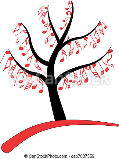 music note tree - csp7037559
