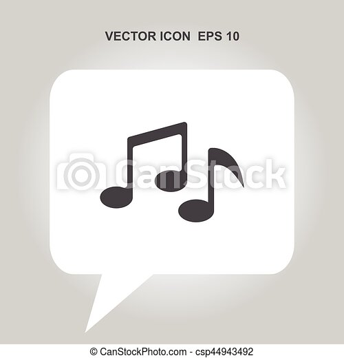 music note vector icon - csp44943492