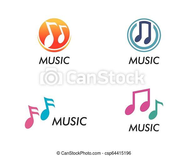 Music note vector icon - csp64415196