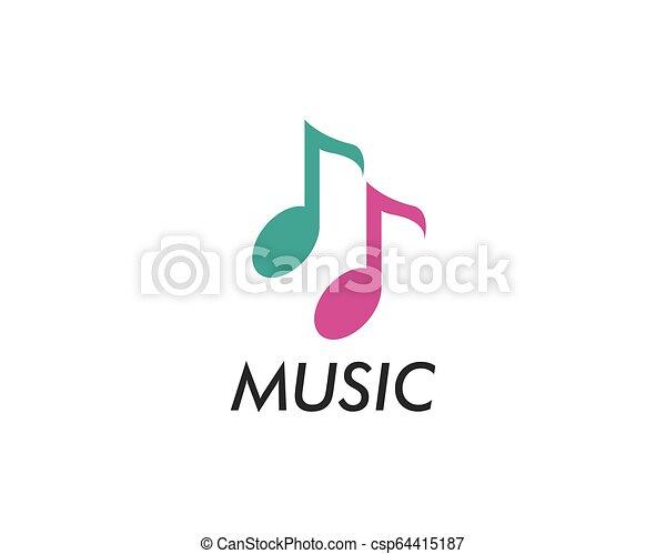 Music note vector icon - csp64415187