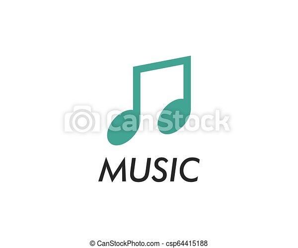 Music note vector icon - csp64415188