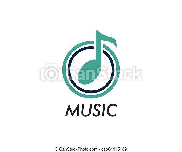 Music note vector icon - csp64415189
