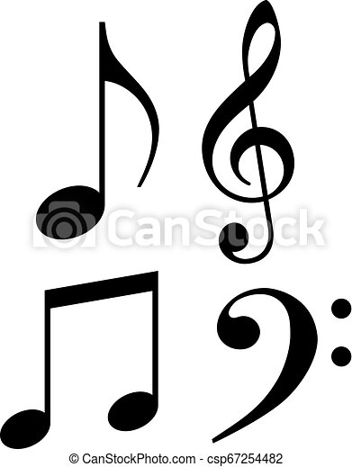 Music note vector icon - csp67254482