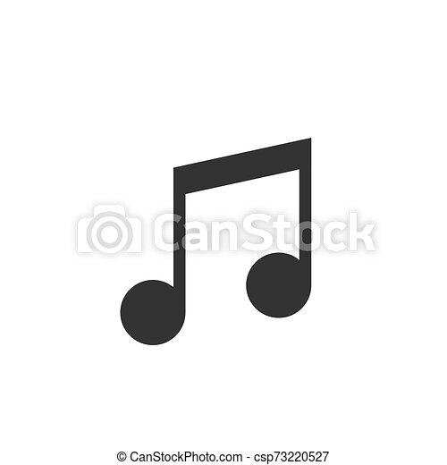 Music note vector icon - csp73220527