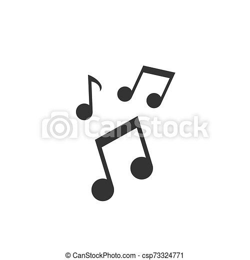 Music note vector icon - csp73324771