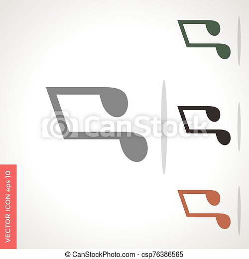 music note vector icon isolated on white background - csp76386565