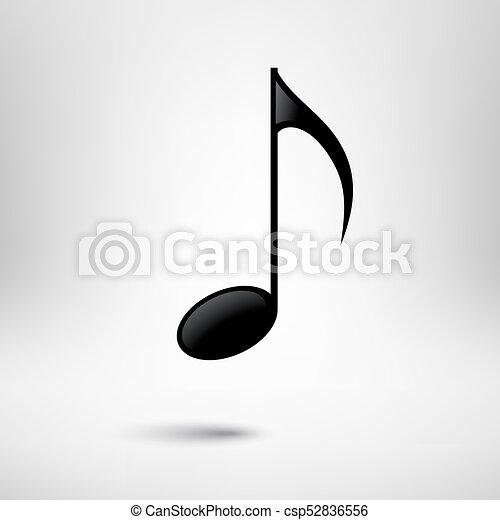 Music note vector icon. Music design element. - csp52836556