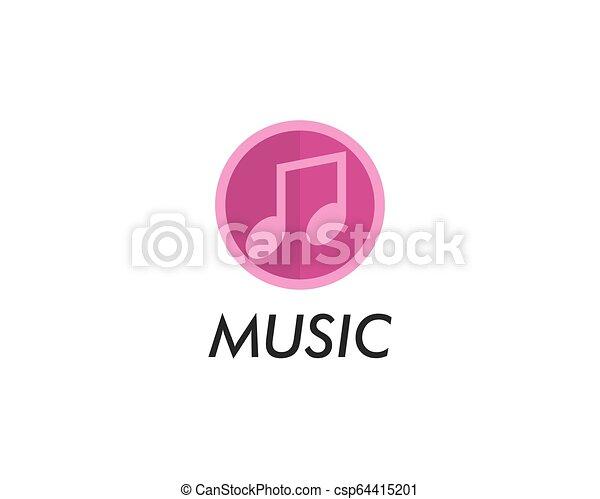 Music note vector icon - csp64415201