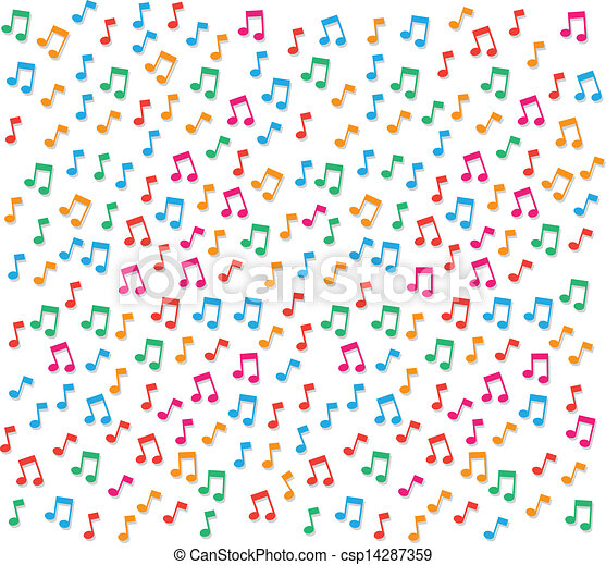 Music notes background small colorful music notes clipart music notes background csp14287359 voltagebd Image collections
