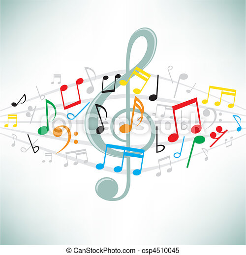 music notes background - csp4510045