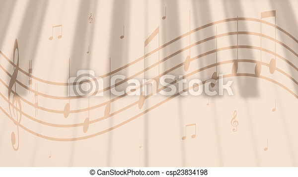 Music notes background music notes with a simple melody on stock music notes background csp23834198 voltagebd Image collections