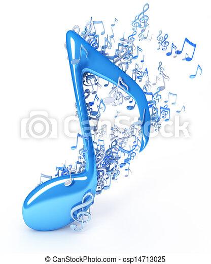 Music notes - csp14713025