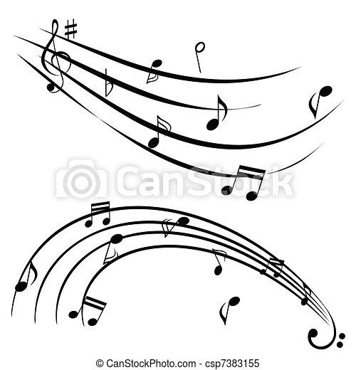 Music notes - csp7383155