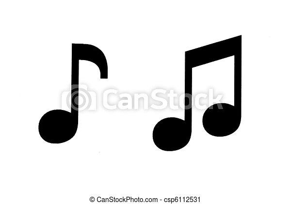 Music Notes Black Symbols Musical Notes On White Background