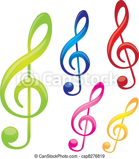 colorful music notes isolated over white background vector eps rh canstockphoto com Music Notes Background Music Notes Graphics