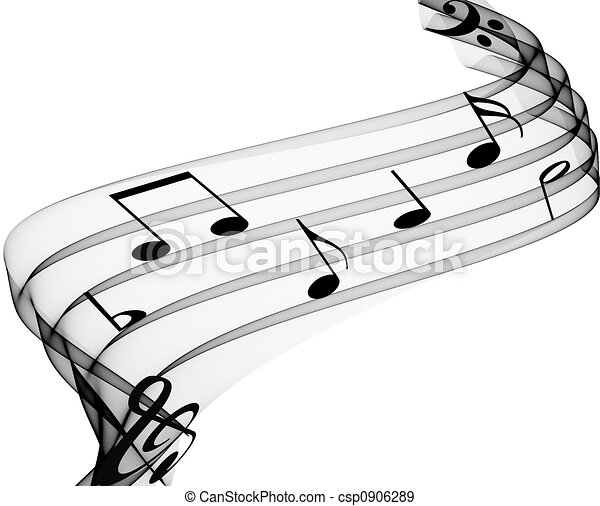 Music Notes - csp0906289