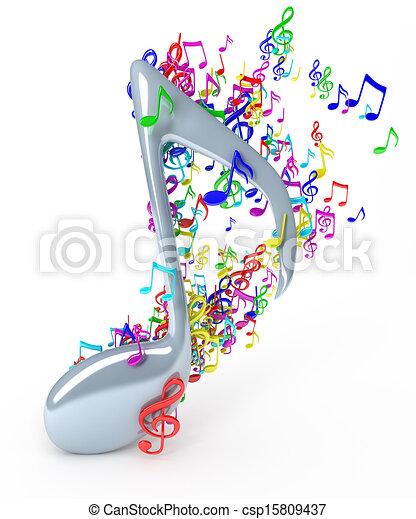 Music notes - csp15809437