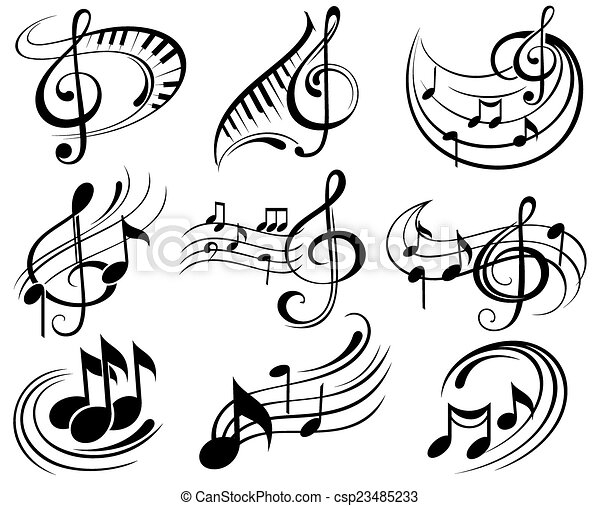 Music notes - csp23485233