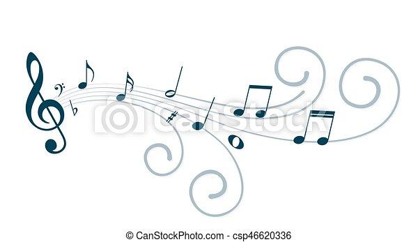 Music notes. - csp46620336