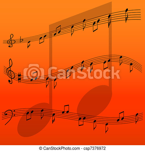 music notes - csp7376972