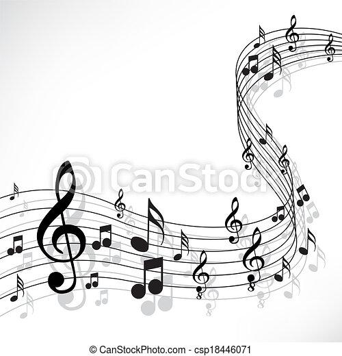 Music notes - csp18446071