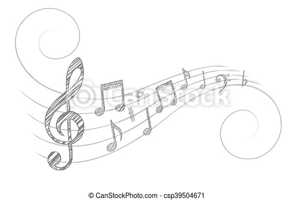 Music notes. - csp39504671