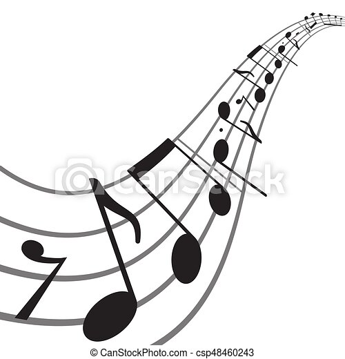 music notes on wavy staff abstract vector background eps vector rh canstockphoto com music staff clipart free music staff clipart vector