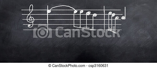 Music Notes - csp3160631