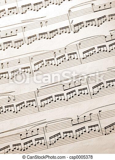 music notes - csp0005378