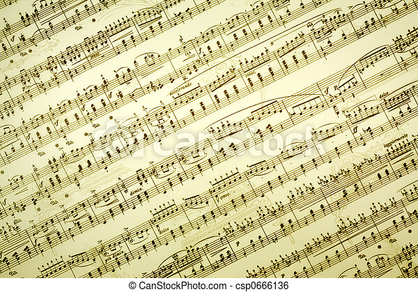 Vintage music notes background stock image search photos and photo music notes csp0666136 voltagebd Image collections