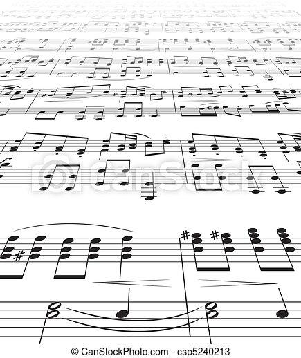 Music Notes Texture - csp5240213