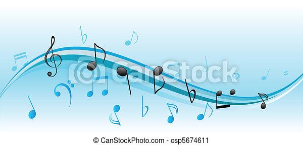 Music notes - csp5674611