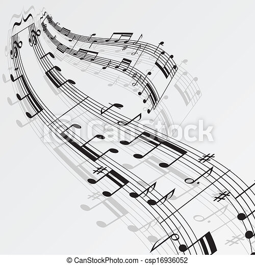 Music Notes Wave Background Wave Music Notes Background Eps10
