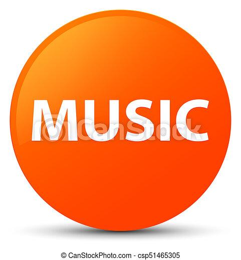 Music orange round button - csp51465305