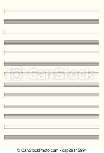 MUSIC PAPER - csp29145991