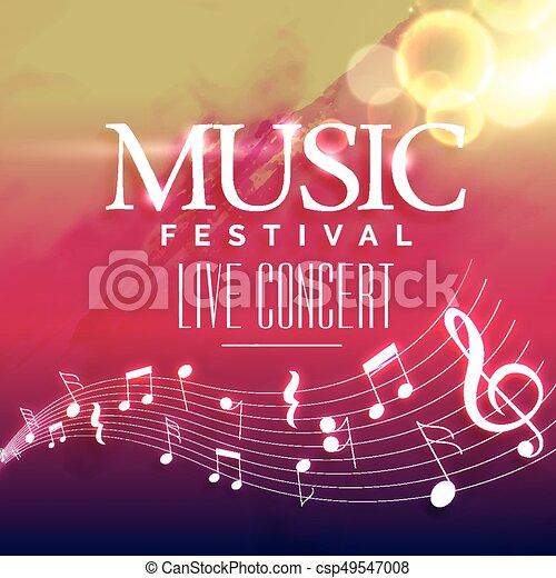 Music Party Invitation Background Design