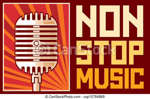 music poster (microphone) - csp15784969