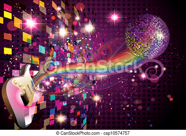 Music rainbow and abstract background - csp10574757