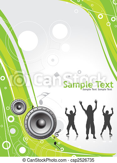 music retro background - csp2526735