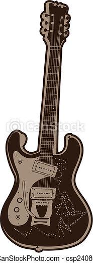 Music Rock Guitar - csp2408090