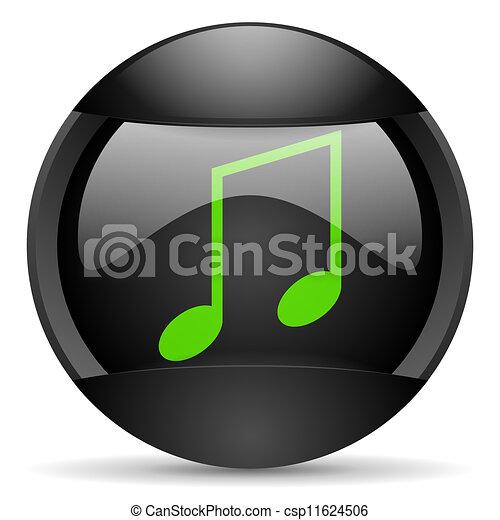 music round black web icon on white background - csp11624506