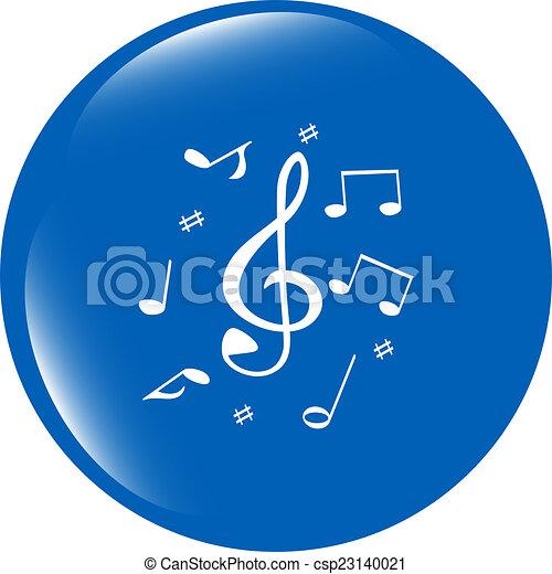 music round glossy web icon on white background - csp23140021