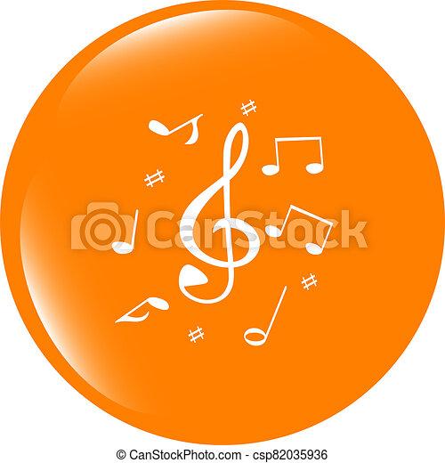 music round glossy web icon on white background - csp82035936