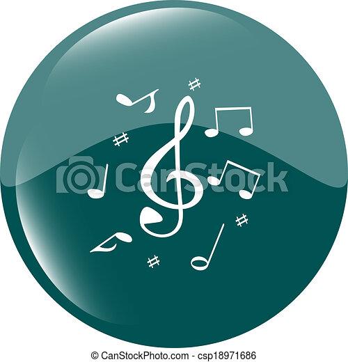 music round glossy web icon on white background - csp18971686