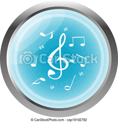 music round glossy web icon on white background - csp19192782