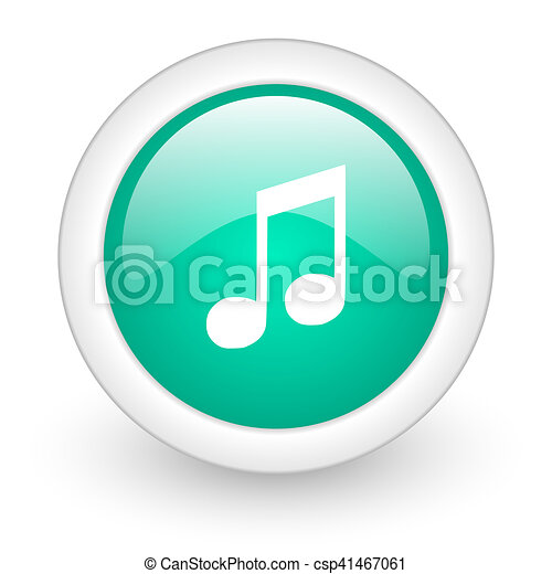 music round glossy web icon on white background - csp41467061