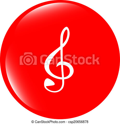music round glossy web icon on white background - csp20656878